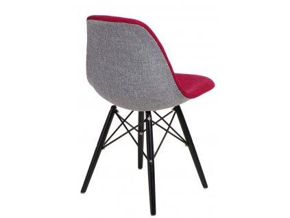 Židle P016V Duo červenošedá/černá