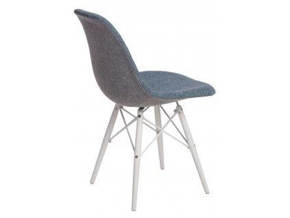 Židle P016V Duo modrošedá/bílá