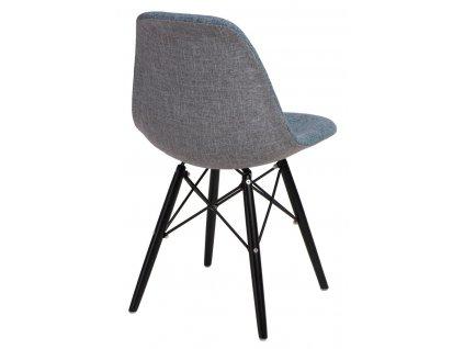 Židle P016V Duo modrošedá/černá