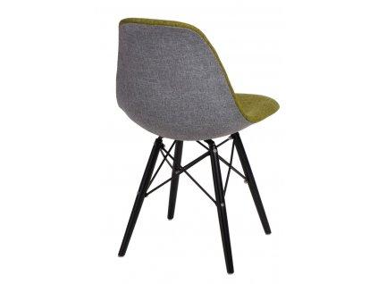 Židle P016V Duo zelenošedá/černá