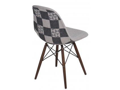 Židle P016V Pattern šedá-patchwork /dark