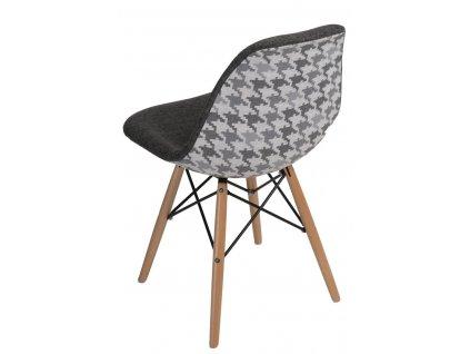 Židle P016V Pattern šedá/pepito