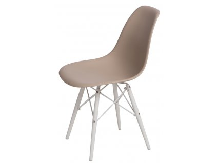 Židle P016V PP béžová/bílá