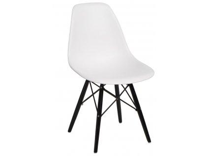 Židle P016V PP bílá/černá