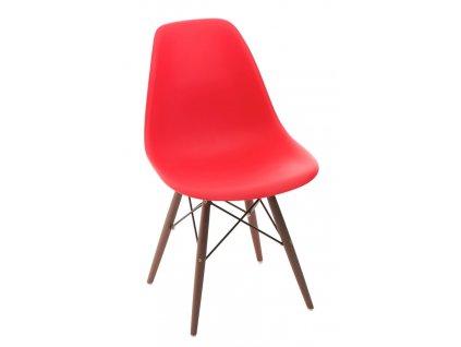 Židle P016V PP červená/dark