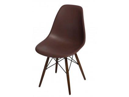 Židle P016V PP hnědá, dark nohy