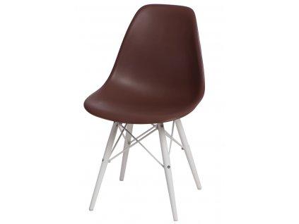 Židle P016V PP hnědá/bílá