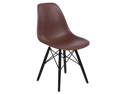 Židle P016V PP hnědá/černá