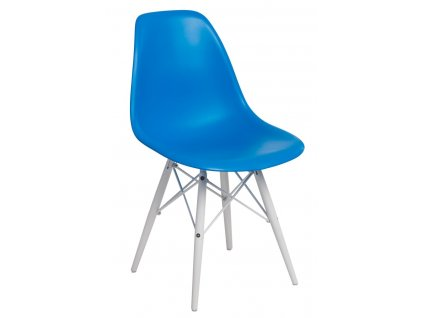 Židle P016V PP modrá/bílá