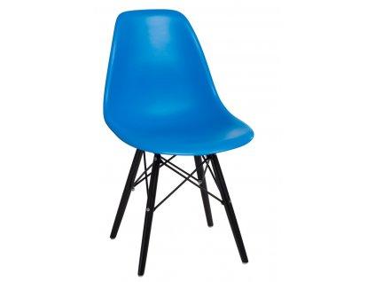 Židle P016V PP modrá/černá
