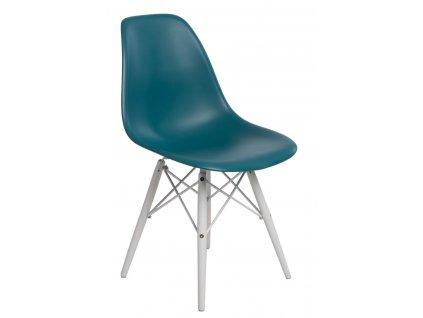Židle P016V PP námořní zeleň/bílá