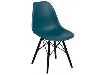 Židle P016V PP námořní zeleň/černá