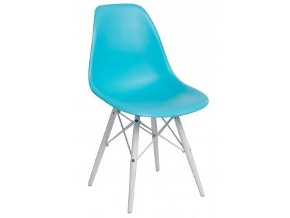 Židle P016V PP oceánská modř/bílá