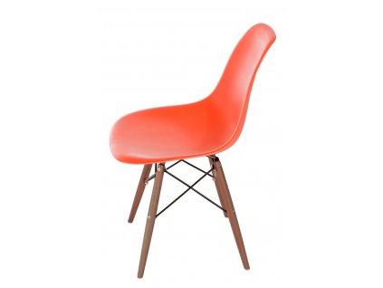 Židle P016V PP oranžová/dark