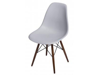 Židle P016V PP světle šedá/ dark nohy