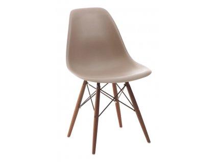 Židle P016V PP světle šedá/dark
