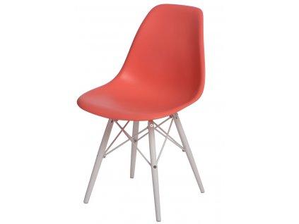Židle P016V PP tmavě broskvová/bílá
