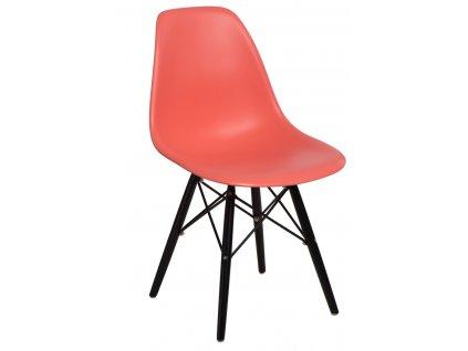 Židle P016V PP tmavě broskvová/černá