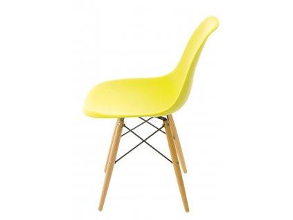 Židle P016V PP tmavě olivová, dřevěné nohy