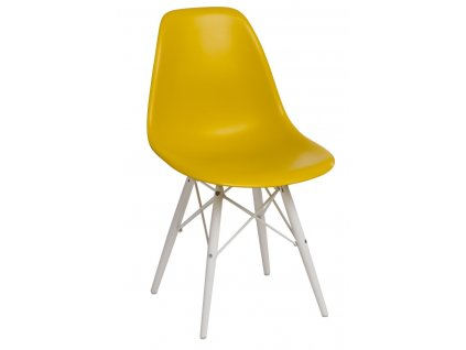 Židle P016V PP tmavě olivová/bílá