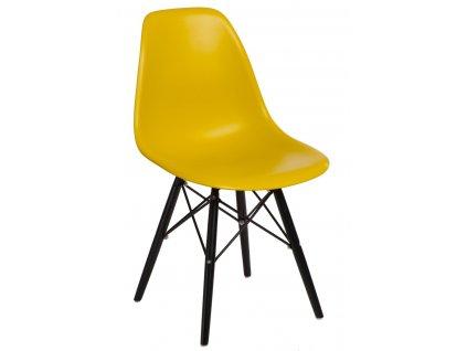 Židle P016V PP tmavě olivová/černá