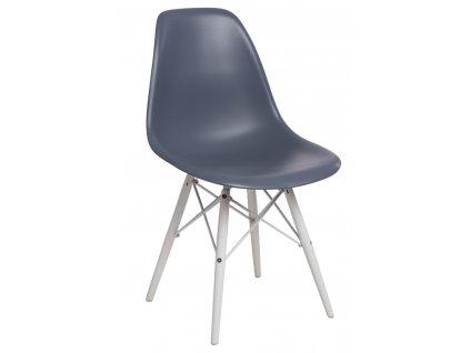 Židle P016V PP tmavě šedá/bílá