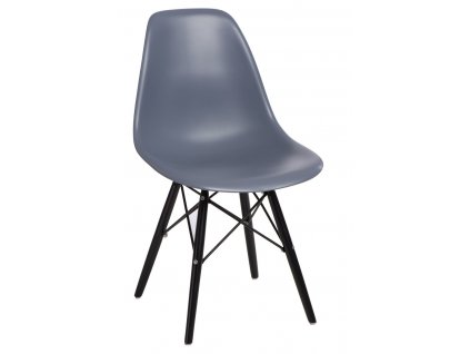 Židle P016V PP tmavě šedá/černá