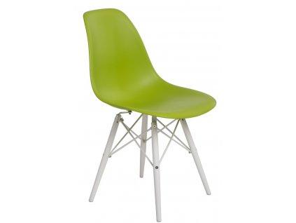 Židle P016V PP zelená/bílá