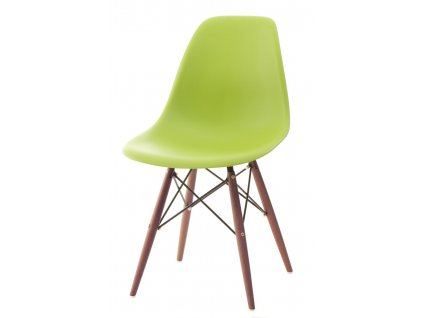 Židle P016V PP zelená/dark