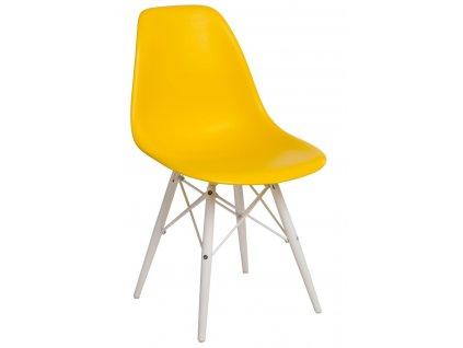 Židle P016V PP žlutá/bílá