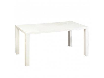 Jídelní stůl, bílá vysoký lesk HG, ASPER NEW TYP 4