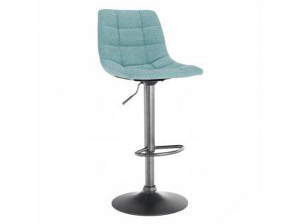 Barová židle, mentolová / černá, LAHELA