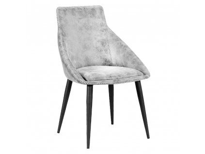 Jídelní židle, světlešedá/černá, DARAY