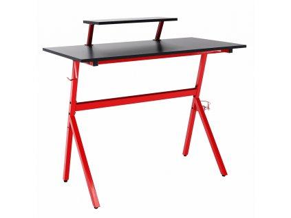 PC stůl / herní stůl, červená / černé, LATIF
