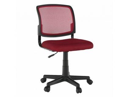 Otočná židle, tmavočervená/černá, RAMIZA