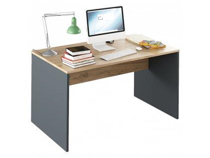 Psací stůl, grafit / dub artisan, RIOMA NEW TYP 11