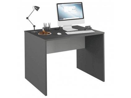 PC stůl, grafit / bílá, RIOMA NEW TYP 12