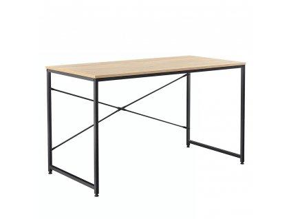 Psací stůl dub / černá, MELLORA