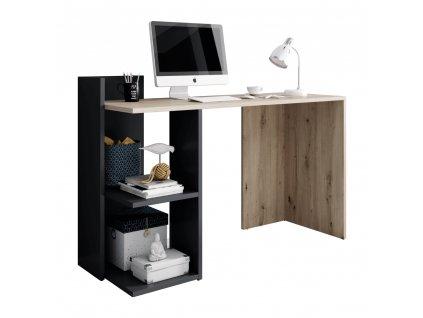 PC stůl, dub artisan/grafit-antracit, ANDREO