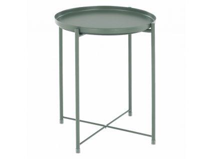 Příruční stolek s odnímatelnou tácem, zelená, TRIDER