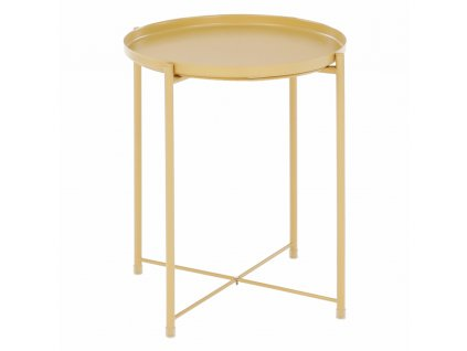 Příruční stolek s odnímatelnou tácem, žlutá, TRIDER