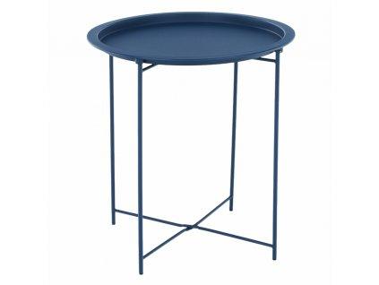 Příruční stolek s odnímatelnou tácem, tmavomodrá, RENDER