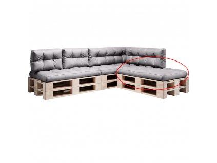 Polštář na paletové sezení, šedá, ANIKA TYP 1