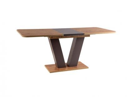 Stůl Platon dub Wotan / hnědý 136(176)x80