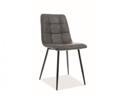 Židle Look černá kostra/šedá koženka