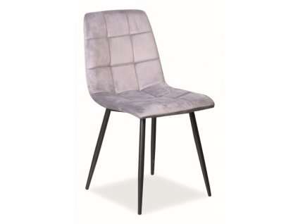 Židle Mila samet černá kostra/šedá Bluvel 14