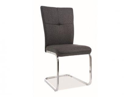 Židle H190 chrom/antracit polstrování č.147
