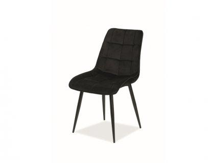 Židle Chic samet černá kostra/černá Bluvel 19