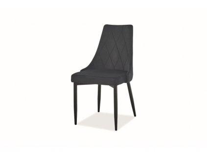 Židle Trix B samet černá kostra/černá Bluvel 19