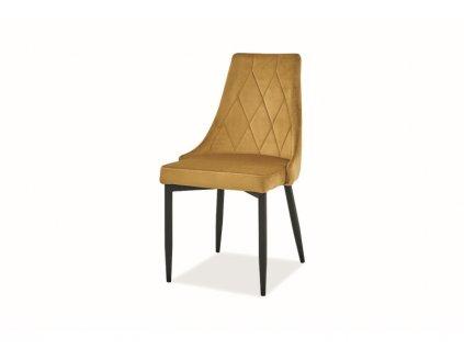 Židle Trix B samet černá kostra/kari Bluvel 68